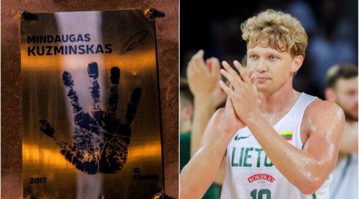 Mindaugas Kuzminskas ir jo rankos įspaudas