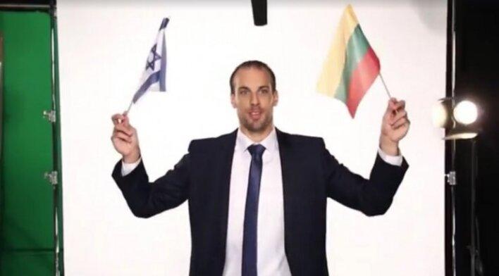 Izraelio rinktinė sveikina Lietuvą