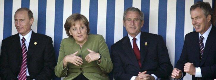 Vladimiras Putinas, Angela Merkel, George'as Bushas, Tony Blairas