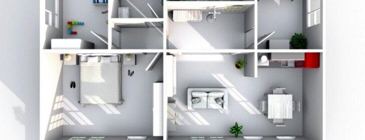 Architektas pataria: kaip perplanuoti 50 kv.m erdvę