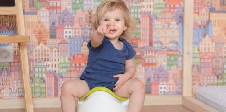 Kodėl vaikas nenori tuštintis į tualetą, nors šlapinasi be problemų