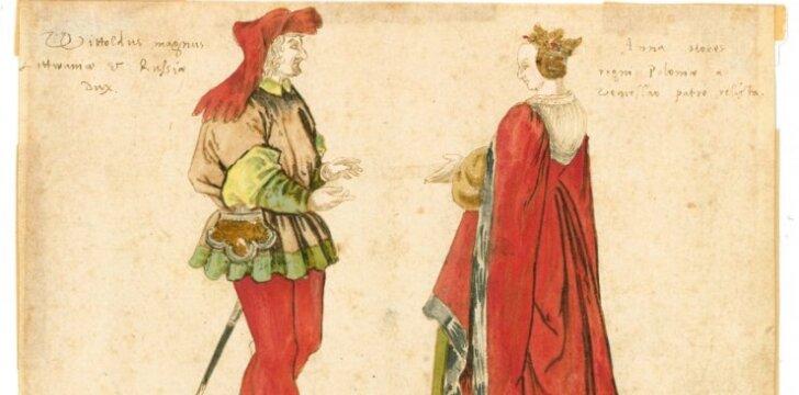 Lietuvos didysis kunigaikštis Vytautas Didysis (1350–1430) ir Lietuvos didžioji kunigaikštienė Ona (1392–1418)Nežinomas vokiečių dailininkas, XVI a.