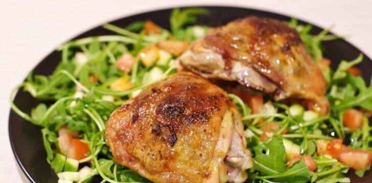 Pagal azijietišką receptą keptos vištienos blauzdelės