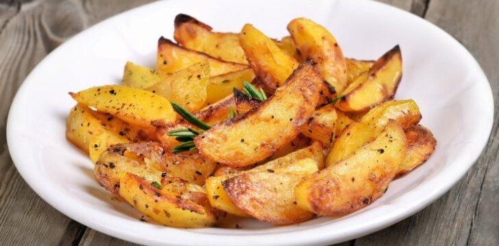 Pagal graikišką receptą keptos bulvės
