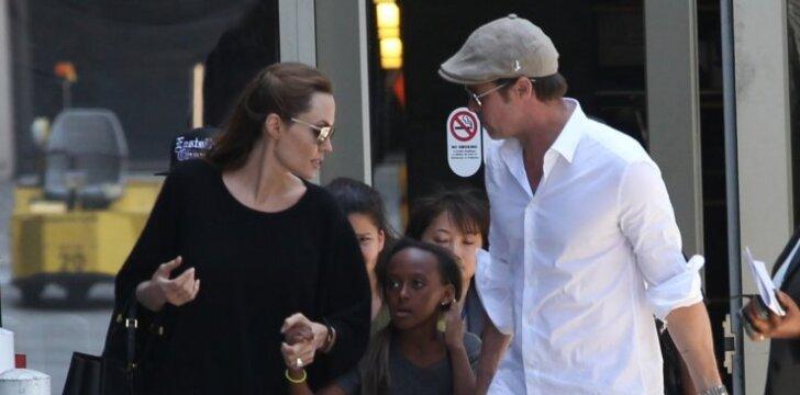 Dėl pragaro šeimoje B. Pittas kaltina žmoną: jis įsiutęs