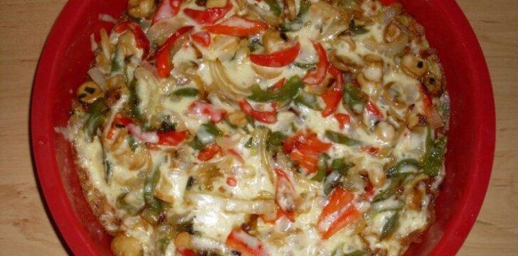 Bulvinių blynų pica