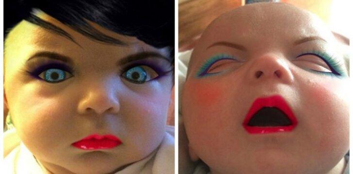"<span style=""color: #ff0000;"">FOTO:</span> kūdikis su makiažu"