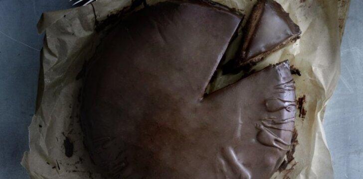 Amerikietiškas šokoladinis tortas
