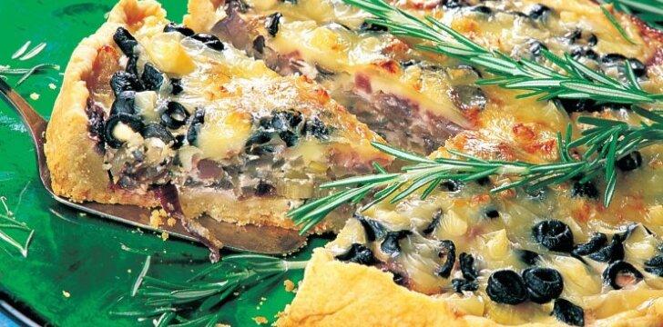 Alyvuogių pica
