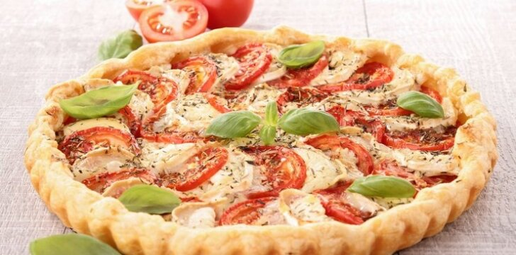 Prancūziškas pyragas su pomidorais