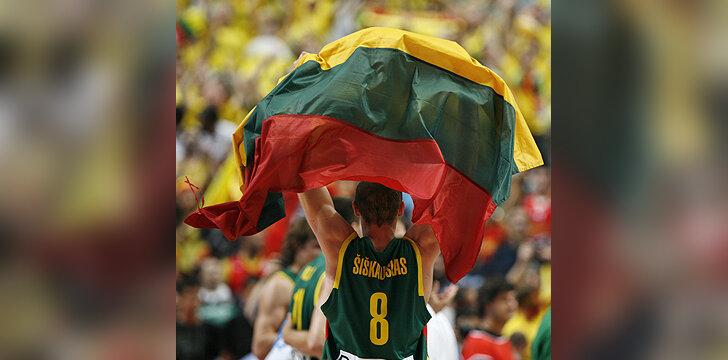 Lietuvos vėliava, varžybos, Europos krepšinio čempionatas