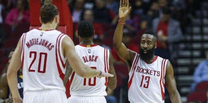 J. Hardenas: turime labai daug talento ir norime į NBA finalą