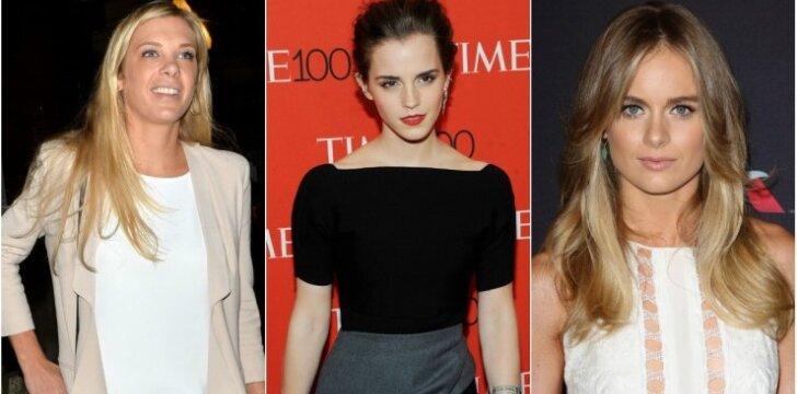 Chelsy Davy, Emma Watson ir Cressida Bonas