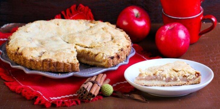 """<span style=""""color: #ff0000;"""">Dietinis obuolių pyragas</span>, kuriam prireiks tik 6 ingredientų!"""
