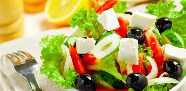 Gaivios fetos ir agurkų salotos