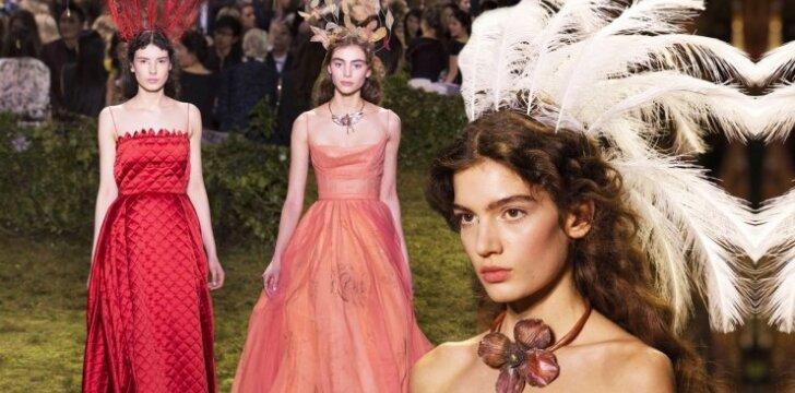 Paryžiuje - nuostabaus grožio vienetinės DIOR suknelės