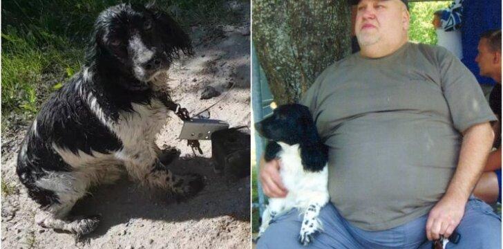 Šuo, kurį bandyta nuskandinti, ir jo šeimininkas