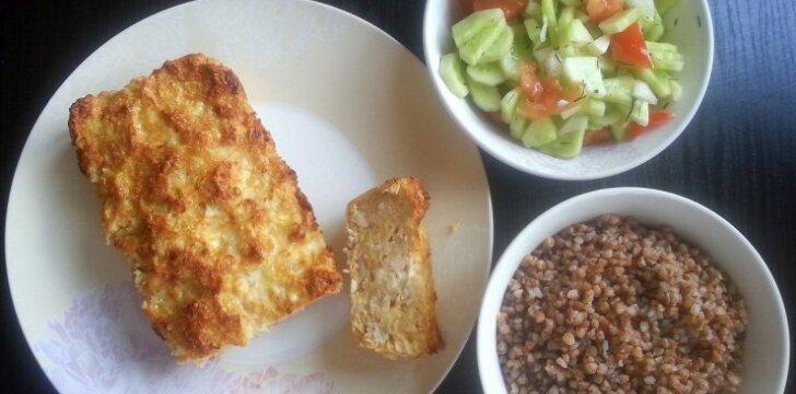 Idėja pietums ar vakarienei: netikras zuikis
