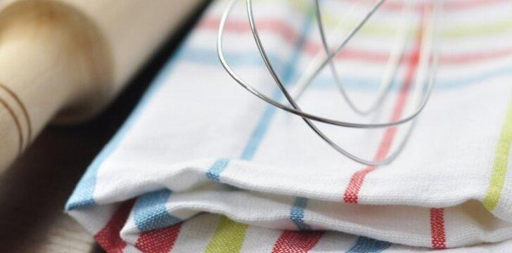 Rūpinkitės savo ir šeimos sveikata - dažniau keiskite virtuvinius rankšluosčius.