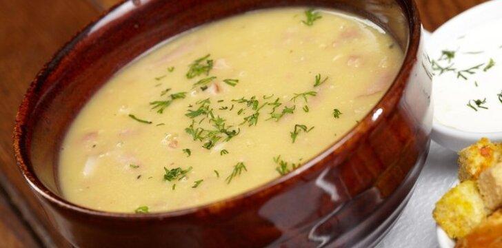 Trinta kruopų sriuba su spirgučiais