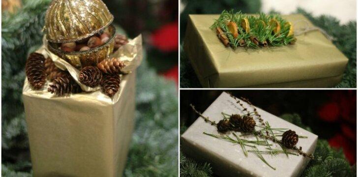 Dizainerės patarimai, kaip originaliai supakuoti dovanas