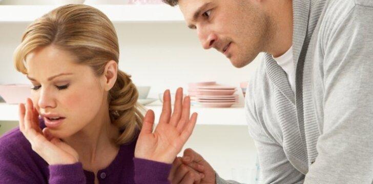Vyrai ginčydamiesi sunkiau tvardo emocijas.