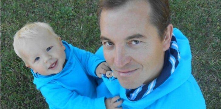 Sveikuolis tėtis sūnų augina pagal sveiko gyvenimo principus