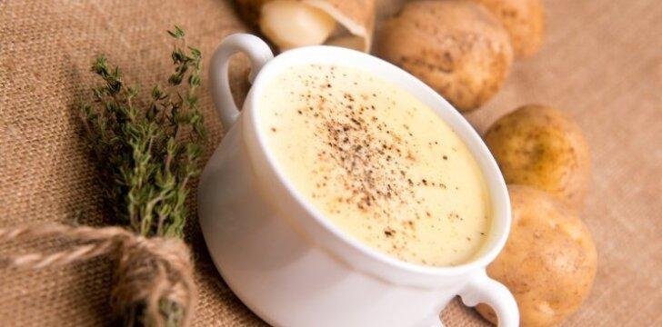 Bulvių sriuba su grietine