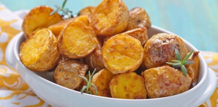 Keptos bulvytės su lupenomis