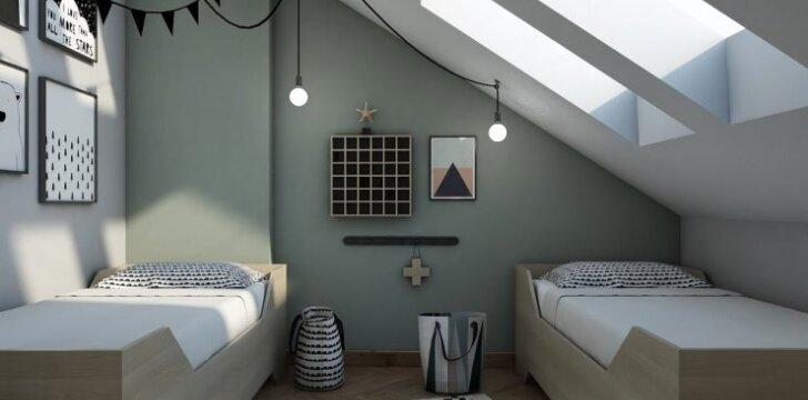 Palėpėje įkurto buto Vilniuje interjeras: stiliaus vientisumas ir įveikti iššūkiai