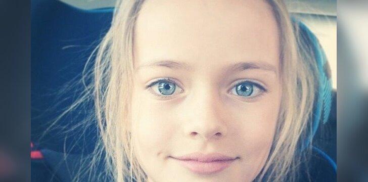 """Devynerių metų mergaitė tituluojama <span style=""""color: #ff0000;"""">gražiausia pasaulyje</span>, o jos tėvai smerkiami"""