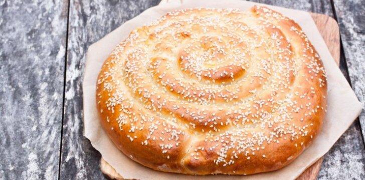 Spiralinis pyragas su paslaptimi