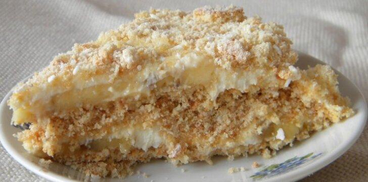 Itin lengvai pagaminamas nekeptas meduolių tortas