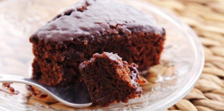 Šokoladinis varškės keksas