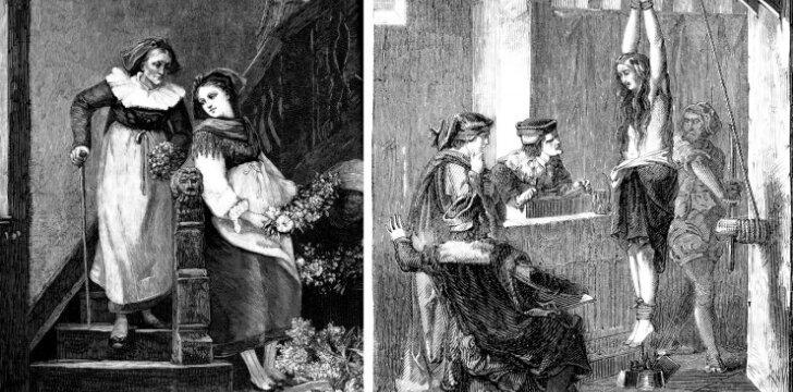 """<span style=""""color: #c00000;"""">Inkvizicijos košmarai:</span> kaip senais laikais žalodavo moteris, įtariamas raganavimu"""