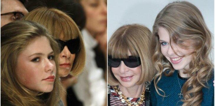 Kaip šiandien atrodo viešumoje retai matoma stiliaus diktatorės A. Wintour dukra