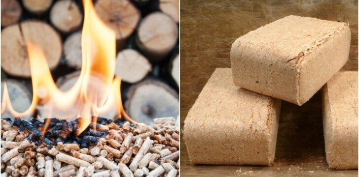 Medienos briketai, granulės ir malkos: ką pasirinkti?