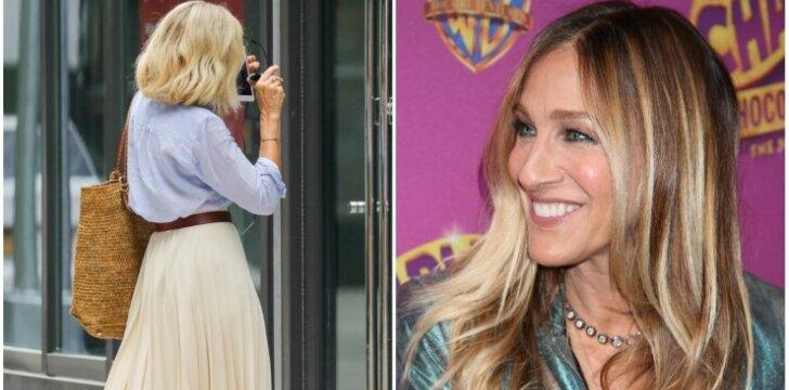 """""""Sekso ir miesto"""" žvaigždės Saros Jessicos Parker pokyčiai stebina! Ar nauja šukuosena pajaunino, ar pasendino?"""
