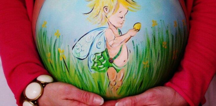 """Išpiešti nėščiųjų pilvai: kažin ar kažką panašaus matėte <sup style=""""color: #ff0000;"""">FOTO</sup>"""