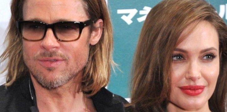 Bradas ir Angelina, net ir augindami 6 vaikus, randa laiko pasimatymams dviem.