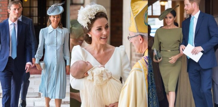 Ką karališkosios šeimos nariai vilkėjo į princo Louiso krikštynas?