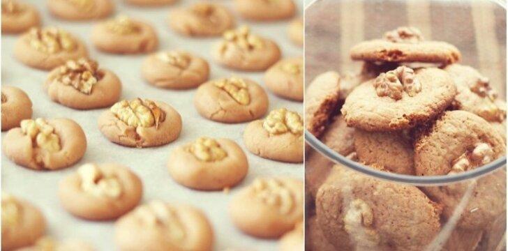 Sausainiai su graikiškais riešutais