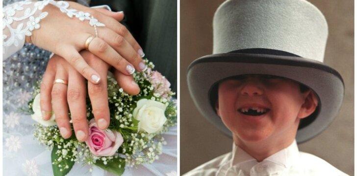 """Tai bent pokštą iškrėtė vaikas per vestuves! <sup style=""""color: #ff0000;"""">VIDEO</sup>"""