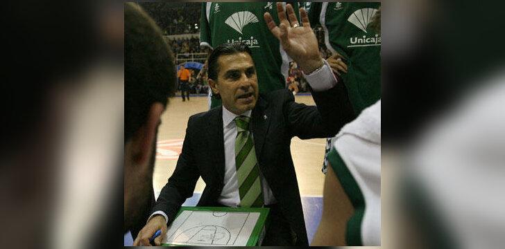 """Sergio Scariolo (""""Unicaja"""")"""