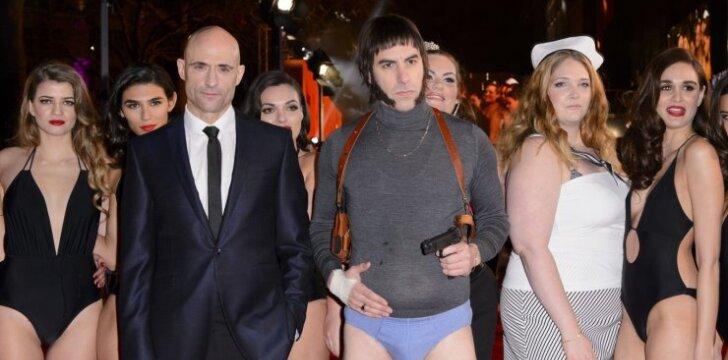 "Sacha Baronas Cohenas su filmo ""Grimsby"" aktoriais"