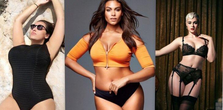 """Savimi patenkintos ir seksualios: """"plius"""" dydžio modeliai, kurie žavi visą pasaulį <span style=""""color: #ff0000;"""">FOTO</span>"""