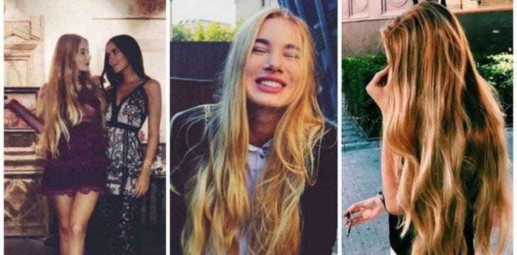 Vieni gražiausių plaukų Lietuvoje: avantiūristiška siela Patricija Viktorija tikra – norėdamos stiprių plaukų privalome kai ko atsisakyti (FOTO)