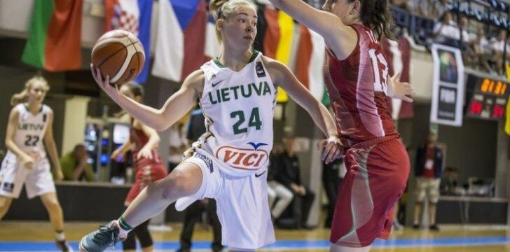 Lietuvos U18 merginų rinktinės narė Dalia Donskichytė