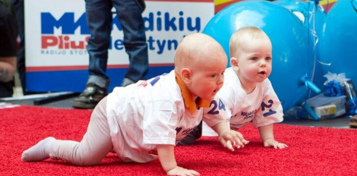Kūdikių lenktynėse jėgas išbandė patys mažiausi