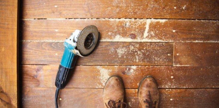 Žingsnis po žingsnio: grindų šlifavimas